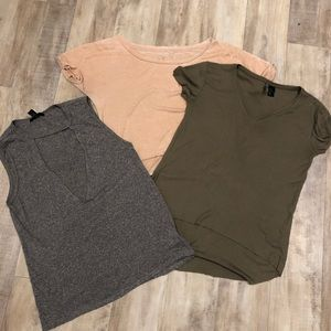 Knit tee & tank pack